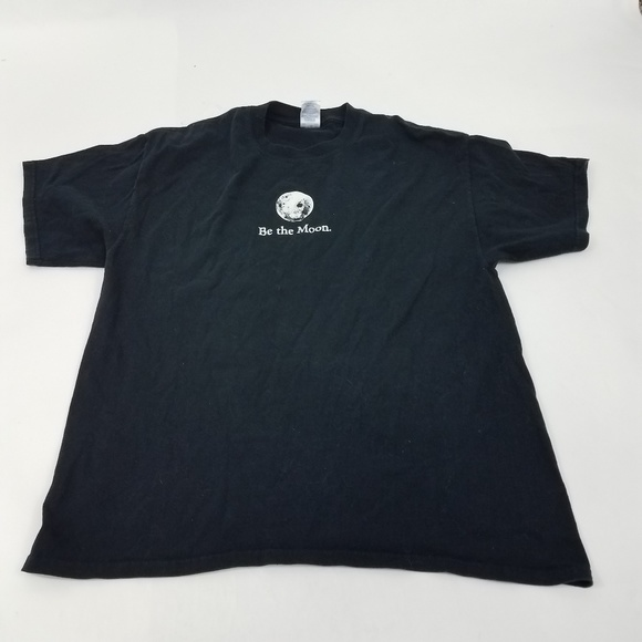 c126837c2 Gildan Shirts | Graphic Tee T Shirt Xl Black Be The Moon Reflect ...